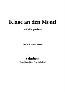 Klage an den Mond: F sharp minor by Franz Schubert