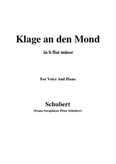 Klage an den Mond: B flat minor by Franz Schubert