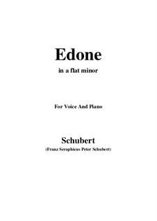 Edone, D.445: A flat minor by Franz Schubert
