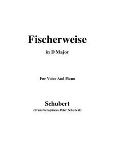 Fischerweise, D.881 Op.96 No.4: Für Stimme und Klavier (D Major) by Franz Schubert