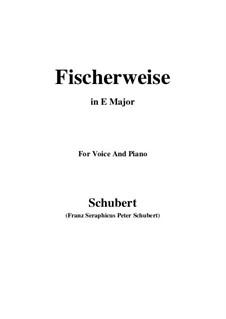 Fischerweise, D.881 Op.96 No.4: Für Stimme und Klavier (E Major) by Franz Schubert