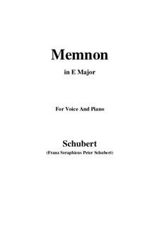 Memnon, D.541 Op.6 No.1: Für Stimme und Klavier (E Major) by Franz Schubert