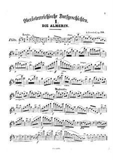 Oberösterreichische Dorfgeschichten für Flöte und Klavier, Op.134: Solostimme by Adolf Terschak