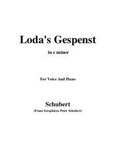 Loda's Gespenst, D.150: E minor by Franz Schubert
