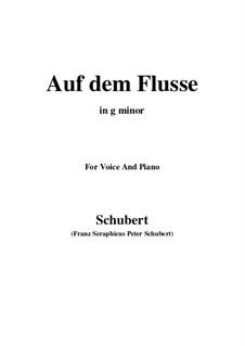 Nr.7 Auf dem Flusse: Für Stimme und Klavier (G minor) by Franz Schubert