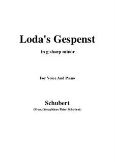 Loda's Gespenst, D.150: G sharp minor by Franz Schubert