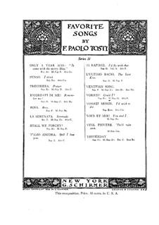 Could I: For mezzo-soprano (or baritone) and piano by Francesco Paolo Tosti
