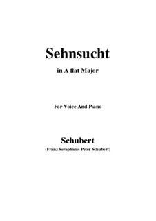 Sehnsucht, D.516 Op.8 No.2: Für Stimme und Klavier (A Flat Major) by Franz Schubert