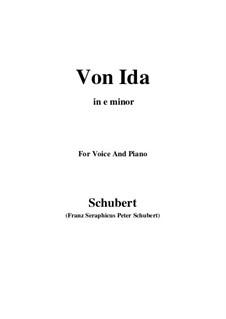 Von Ida, D.228: E minor by Franz Schubert