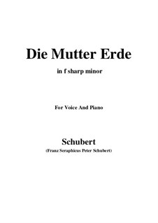 Die Mutter Erde, D.788: F sharp Major by Franz Schubert
