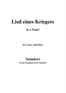 Lied eines Kriegers, D.822: A-Dur by Franz Schubert
