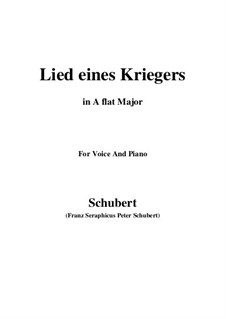 Lied eines Kriegers, D.822: A flat Major by Franz Schubert