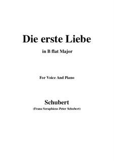 Die erste Liebe, D.182: B flat Major by Franz Schubert
