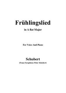 Frühlingslied, D.398: A flat Major by Franz Schubert