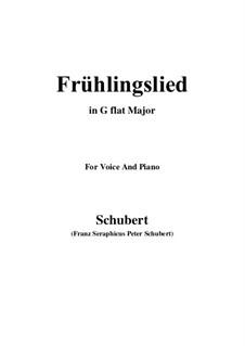Frühlingslied, D.398: G flat Major by Franz Schubert
