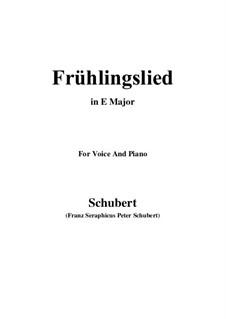 Frühlingslied, D.398: E Major by Franz Schubert