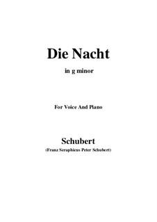 Die Nacht, D.534: G minor by Franz Schubert