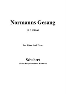 Normans Gesang, D.846 Op.52 No.5: For voice and piano (d minor) by Franz Schubert