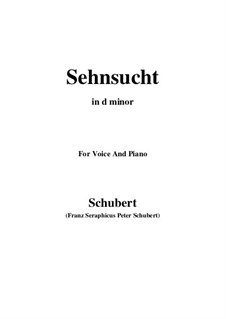 Sehnsucht, D.879 Op.105 No.4: For voice and piano (d minor) by Franz Schubert