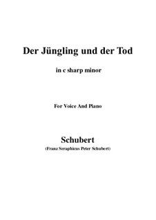 Der Jüngling und der Tod, D.545: C sharp minor by Franz Schubert