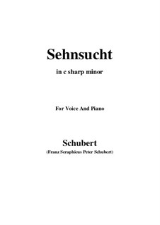 Sehnsucht, D.879 Op.105 No.4: For voice and piano (c sharp minor) by Franz Schubert