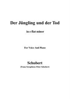 Der Jüngling und der Tod, D.545: E flat minor by Franz Schubert