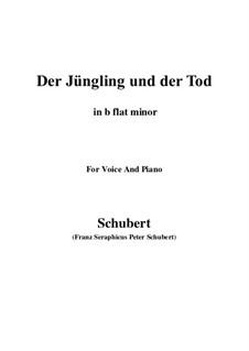 Der Jüngling und der Tod, D.545: B flat minor by Franz Schubert