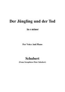 Der Jüngling und der Tod, D.545: E minor by Franz Schubert