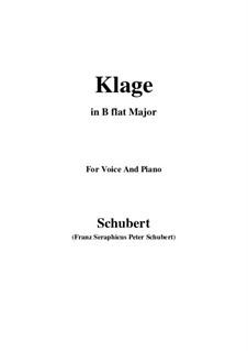 Klage, D.415: Für Stimme und Klavier (G minor) by Franz Schubert