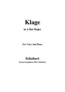 Klage, D.415: Für Stimme und Klavier (F minor) by Franz Schubert