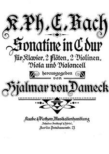 Sonatine für zwei Flöten, Streicher und Klavier in C-Dur, H 460: Klavierstimme by Carl Philipp Emanuel Bach
