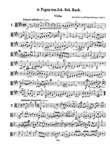 Ausgewählte Stücke: Vierzehn Fugen für Streichquartett – Bratschenstimme by Johann Sebastian Bach