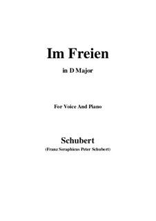 Im Freien, D.880 Op.80 No.3: Für Stimme und Klavier (D Major) by Franz Schubert