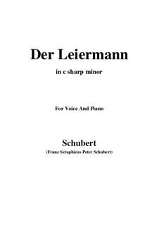 Nr.24 Der Leiermann: For voice and piano (c sharp minor) by Franz Schubert