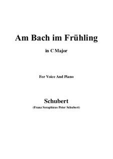 Am Bach im Frühling, D.361 Op.109 No.1: C-Dur by Franz Schubert
