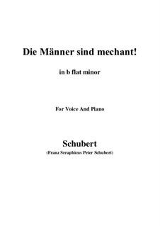 Vier Refrain-Lieder, D.866 Op.95: No.3 Die Männer sind méchant (b flat minor) by Franz Schubert