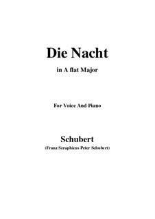 Die Nacht, D.358: A flat Major by Franz Schubert