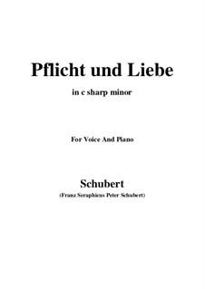 Pflicht und Liebe: C sharp minor by Franz Schubert