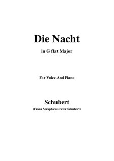 Die Nacht, D.358: G flat Major by Franz Schubert