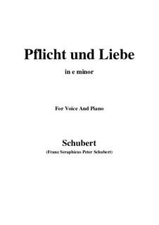 Pflicht und Liebe: E minor by Franz Schubert