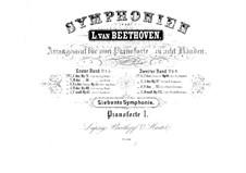 Vollständiger Sinfonie: Version für zwei Klaviere, achthändig – Klavierstimme I by Ludwig van Beethoven