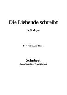 Die Liebende schreibt, D.673 Op.165 No.1: G Major by Franz Schubert