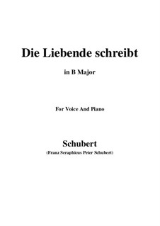 Die Liebende schreibt, D.673 Op.165 No.1: B Major by Franz Schubert