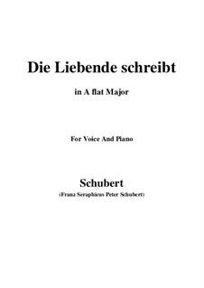 Die Liebende schreibt, D.673 Op.165 No.1: A flat Major by Franz Schubert