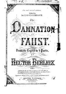 Fausts Verdammung, H.111 Op.24: Klavierauszug mit Singstimmen by Hector Berlioz