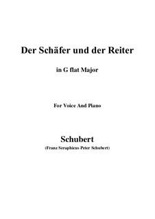 Der Schäfer und der Reiter, D.517 Op.13 No.1: For voice and piano (G flat Major) by Franz Schubert