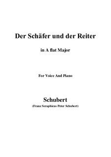 Der Schäfer und der Reiter, D.517 Op.13 No.1: Für Stimme und Klavier (A Flat Major) by Franz Schubert