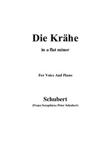 Nr.15 Die Krähe: For voice and piano (a flat minor) by Franz Schubert
