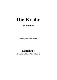 Nr.15 Die Krähe: Für Stimme und Klavier (A minor) by Franz Schubert