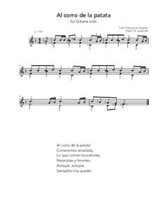 Al corro de la patata: For guitar solo (F Major) by folklore